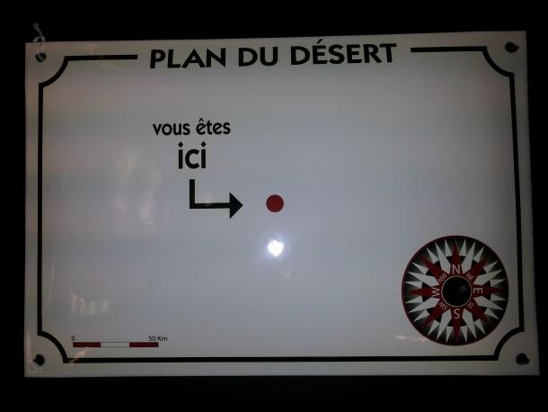plan du désert
