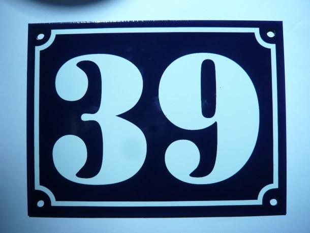 numéros de rue 20x15cm