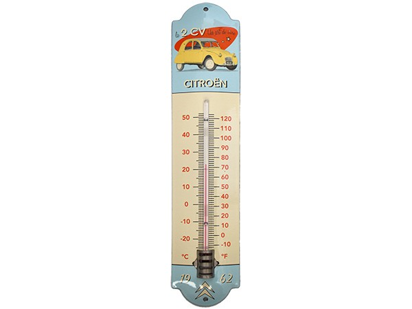 thermomètre 2cv citröen 42cm