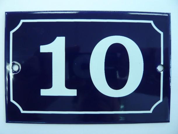 numéros de rue 15x10cm